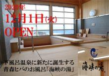 新たに誕生!青森ヒバの風呂「海峡の湯」。